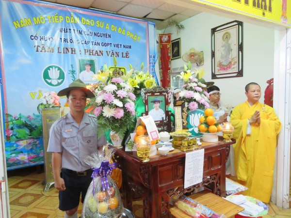 GĐPT Bà Rịa Vũng Tàu tổ chức lễ tưởng niệm và viếng tang anh Tâm Linh-Phan Văn Lê