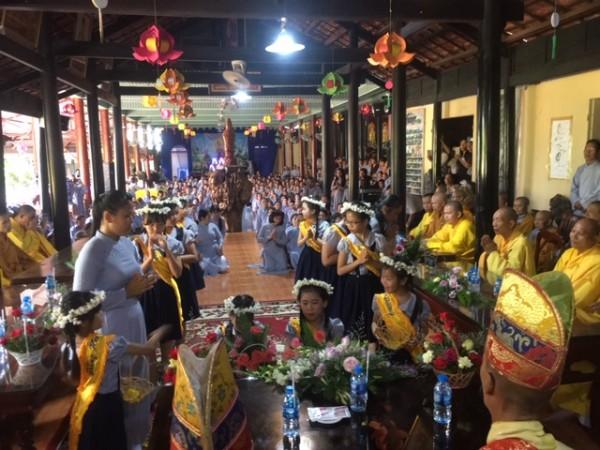 Lễ Vu Lan báo hiếu tại chùa Thiên Quang