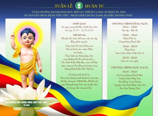 Tuần lễ Huân tu cúng dường Khánh đản Đức Bổn sư Thích Ca Mâu Ni Phật (PL.2565 – DL.2021)
