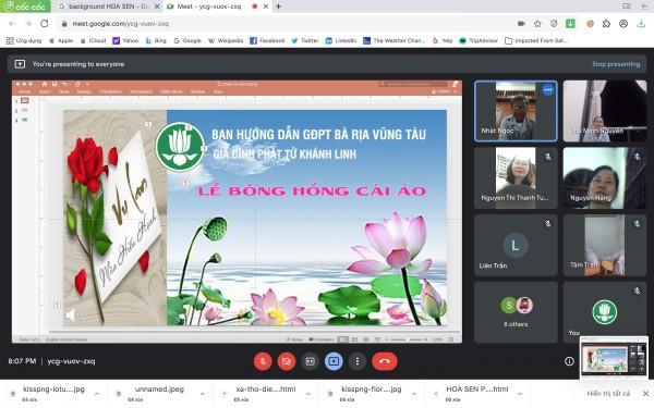 Lễ Vu Lan trực tuyến tại GĐPT Khánh Linh